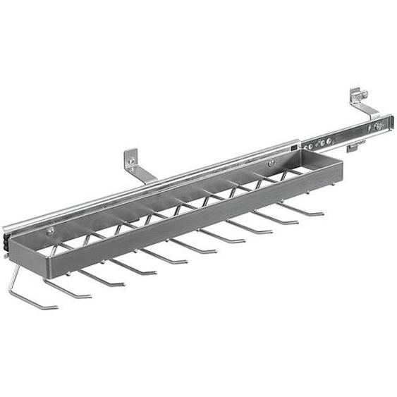 Rauch Pack´s Krawattenhalter-/Gürtelhalter Silber 9x7x45 cm (BxHxT) Aluminium