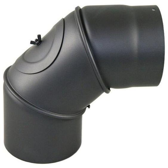 Rauchrohr Winkel Verstellbar 0-90° Dn 150 Mm Grau Ofenrohr Kamin