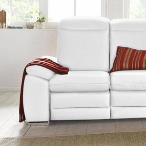 RAUM.ID 2-Sitzer, weiß, mit Relaxfunktion, mit Rückenverstellung, 153cm, FSC®-zertifiziert
