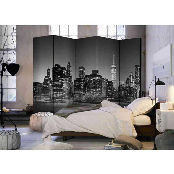Raum Sichtschutz mit New York bei Nacht 225 cm breit