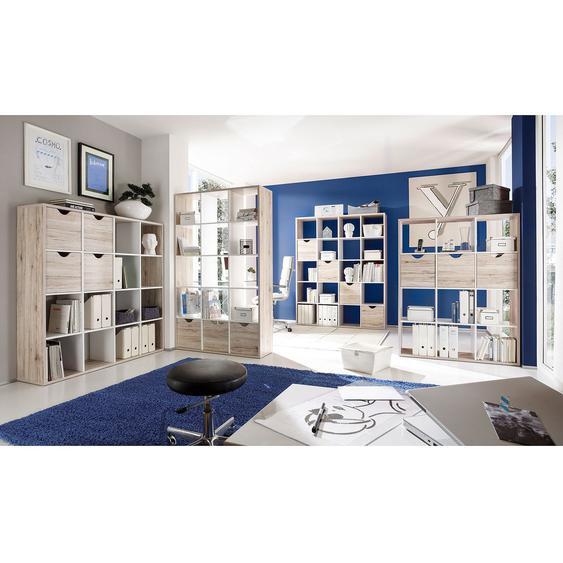 Roomscape Raumteiler Annecy Spanplatte Sandeiche/Weiß 145x181x34 cm (BxHxT)