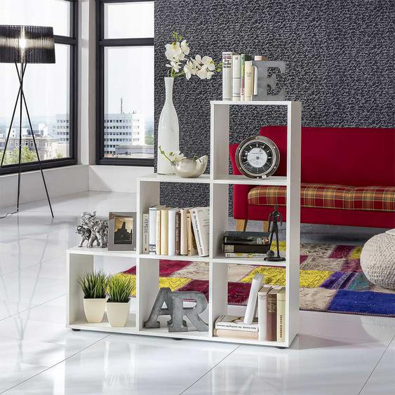 Raumteiler in Wei� Treppendesign
