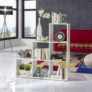 Raumteiler in Weiß Treppendesign