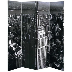 Raumteiler mit City Motiv