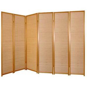 Raumteiler Paravent aus Kiefer Massivholz 245 cm breit