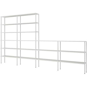 Raumteiler Regal in Wei� Stahl 220 cm hoch