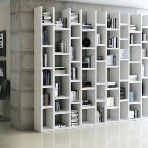 Raumteilerregal TOR166, Breite 272 cm Einheitsgröße weiß Raumteiler Regale