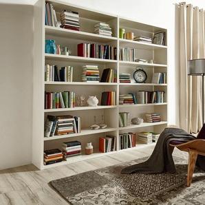 Raumteilerregal Toro, 12 Fächer, Breite 240,6 cm Einheitsgröße weiß Raumteiler Regale