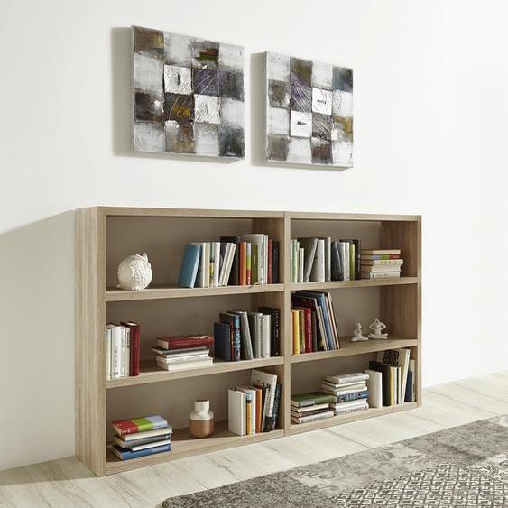 Raumteilerregal Toro, 6 Fächer, Breite 185 cm Einheitsgröße braun Regalwürfel Weitere Regale