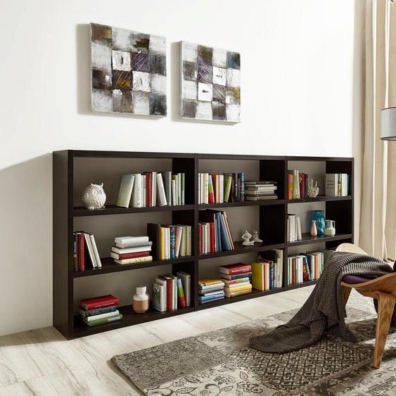 Raumteilerregal Toro, 9 Fächer, Breite 275,8 cm Einheitsgröße braun Regalwürfel Weitere Regale