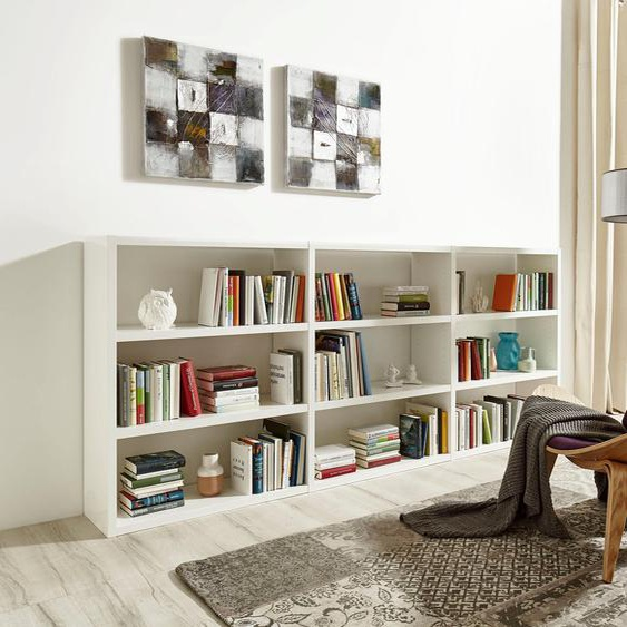 Raumteilerregal Toro, 9 Fächer, Breite 275,8 cm Einheitsgröße weiß Regalwürfel Weitere Regale