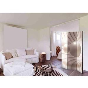 Raumtrennwand aus Leinwand mit geometrischem Kugel Motiv