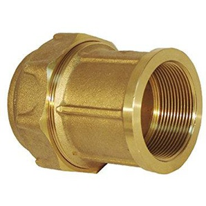 RC Junter 44032–Link Weiblich Messing, 32mm, 5.5x 5.5x 5.5cm, goldfarben