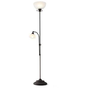 Reality Leuchten Stehlampe, Braun, Antik, Rost, Altmessing 180 cm