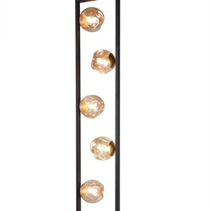 Reality Leuchten Stehlampe, Schwarz, Alu, Eisen, Stahl & Metall