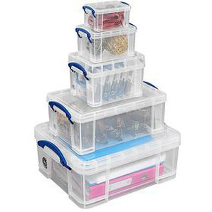 Really Useful Box Aufbewahrungsboxen 32,3 l transparent 39,0 x 48,0 x 20,0 cm