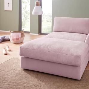 sit&more Recamiere, rosa, 139cm, Recamiere rechts