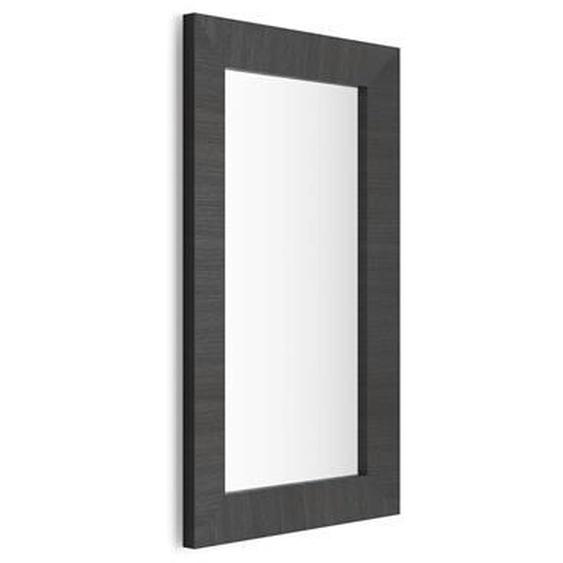 Rechteckiger Wandspiegel, Rahmen aus Esche, schwarz, Giuditta 110x65