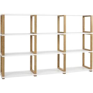 : Regal, Holzwerkstoff,Eiche, Weiß, Eiche, B/H/T 178 118 36