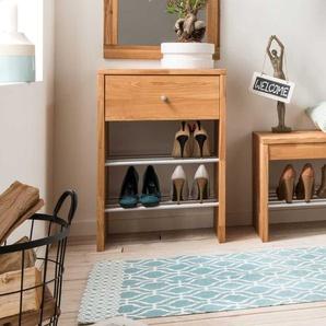 Regal für Schuhe Wildeiche Massivholz