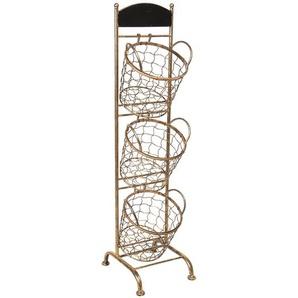 Regal mit Körben | 30*25*98 cm | Braun | Eisen | Rechteck | stehend | Clayre & Eef | 5Y0643