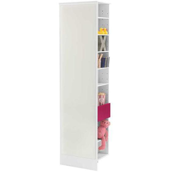 Regal mit Spiegel Weiß Pink