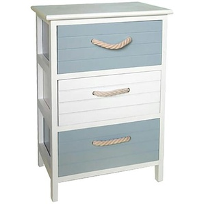 Regal Paulownia Holz/ MDF, weiß/grau matt | 40 cm | 58 cm | 29 cm |
