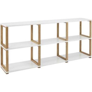 : Regal, Holzwerkstoff,Eiche, Weiß, Eiche, B/H/T 178 80 36