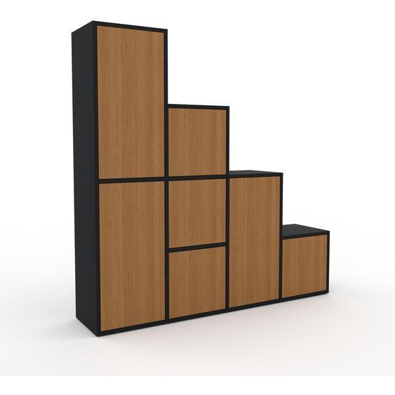 Regalsystem Eiche - Flexibles Regalsystem: Türen in Eiche - Hochwertige Materialien - 156 x 157 x 35 cm, Komplett anpassbar