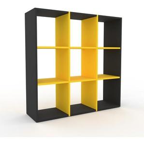 Regalsystem Graphitgrau - Flexibles Regalsystem: Hochwertige Qualität, einzigartiges Design - 118 x 118 x 35 cm, Komplett anpassbar