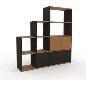 Regalsystem Anthrazit - Flexibles Regalsystem: Türen in Anthrazit - Hochwertige Materialien - 154 x 157 x 35 cm, Komplett anpassbar