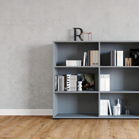 Regalsystem Grau - Flexibles Regalsystem: Hochwertige Qualität, einzigartiges Design - 152 x 120 x 35 cm, Komplett anpassbar