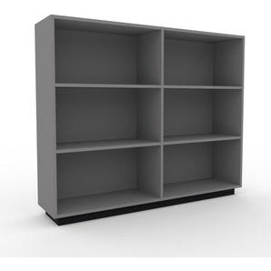 Regalsystem Grau - Flexibles Regalsystem: Hochwertige Qualität, einzigartiges Design - 152 x 124 x 35 cm, Komplett anpassbar