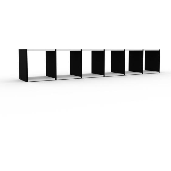 Regalsystem Schwarz - Flexibles Regalsystem: Hochwertige Qualität, einzigartiges Design - 233 x 41 x 35 cm, Komplett anpassbar