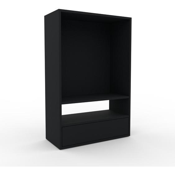 Regalsystem Schwarz - Flexibles Regalsystem: Schubladen in Schwarz - Hochwertige Materialien - 77 x 118 x 35 cm, Komplett anpassbar