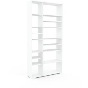 Regalsystem Weiß - Flexibles Regalsystem: Hochwertige Qualität, einzigartiges Design - 116 x 235 x 35 cm, Komplett anpassbar