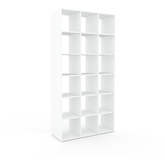 Regalsystem Weiß - Flexibles Regalsystem: Hochwertige Qualität, einzigartiges Design - 118 x 233 x 47 cm, Komplett anpassbar