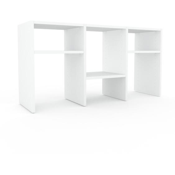Regalsystem Weiß - Flexibles Regalsystem: Hochwertige Qualität, einzigartiges Design - 118 x 61 x 35 cm, Komplett anpassbar