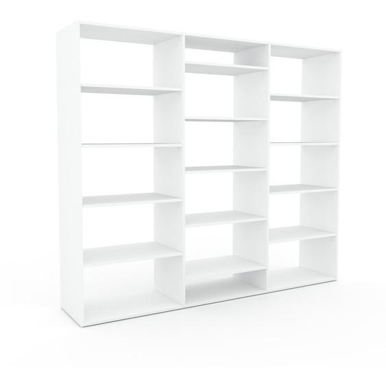 Regalsystem Weiß - Flexibles Regalsystem: Hochwertige Qualität, einzigartiges Design - 226 x 195 x 47 cm, Komplett anpassbar