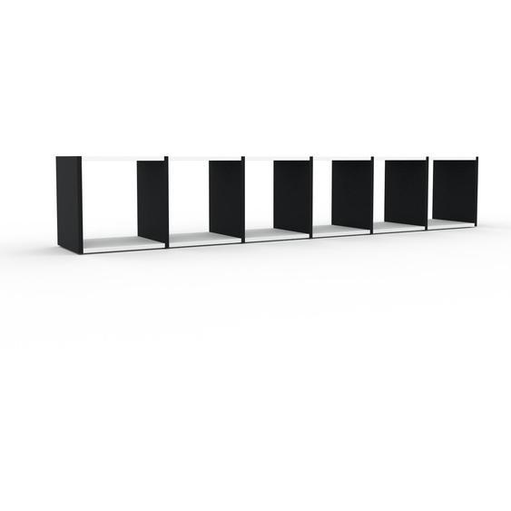 Regalsystem Weiß - Flexibles Regalsystem: Hochwertige Qualität, einzigartiges Design - 233 x 41 x 35 cm, Komplett anpassbar