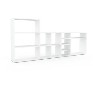 Regalsystem Weiß - Flexibles Regalsystem: Hochwertige Qualität, einzigartiges Design - 267 x 118 x 35 cm, Komplett anpassbar