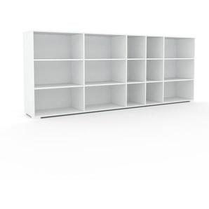 Regalsystem Weiß - Flexibles Regalsystem: Hochwertige Qualität, einzigartiges Design - 303 x 120 x 47 cm, Komplett anpassbar