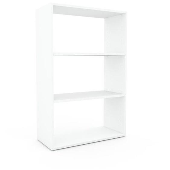 Regalsystem Weiß - Flexibles Regalsystem: Hochwertige Qualität, einzigartiges Design - 77 x 118 x 35 cm, Komplett anpassbar