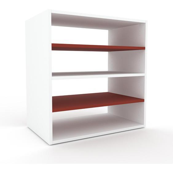 Regalsystem Weiß - Flexibles Regalsystem: Hochwertige Qualität, einzigartiges Design - 77 x 80 x 47 cm, Komplett anpassbar