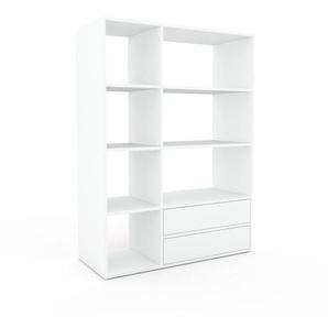 Regalsystem Weiß - Flexibles Regalsystem: Schubladen in Weiß - Hochwertige Materialien - 116 x 157 x 47 cm, Komplett anpassbar