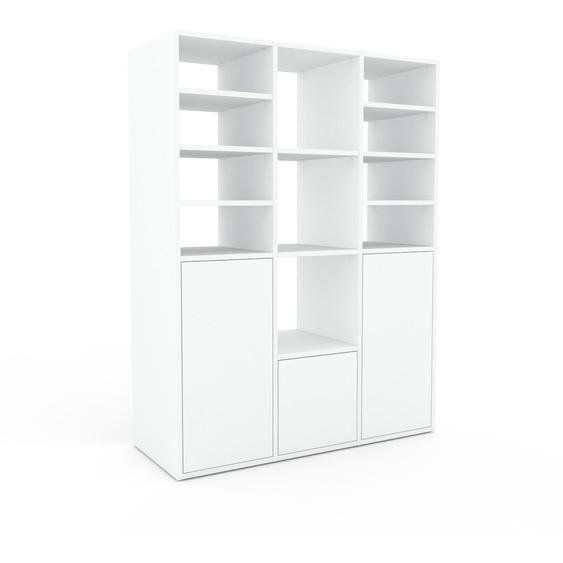 Regalsystem Weiß - Flexibles Regalsystem: Türen in Weiß - Hochwertige Materialien - 118 x 157 x 47 cm, Komplett anpassbar