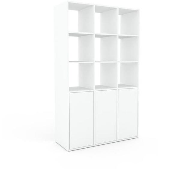 Regalsystem Weiß - Flexibles Regalsystem: Türen in Weiß - Hochwertige Materialien - 118 x 195 x 47 cm, Komplett anpassbar