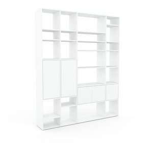 Regalsystem Weiß - Flexibles Regalsystem: Türen in Weiß - Hochwertige Materialien - 193 x 233 x 35 cm, Komplett anpassbar