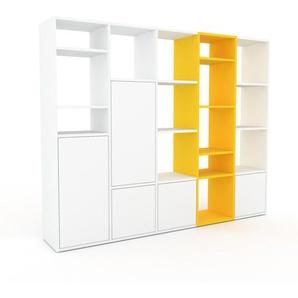 Regalsystem Weiß - Flexibles Regalsystem: Türen in Weiß - Hochwertige Materialien - 195 x 157 x 35 cm, Komplett anpassbar
