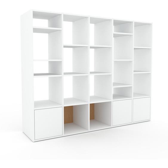 Regalsystem Weiß - Flexibles Regalsystem: Türen in Weiß - Hochwertige Materialien - 195 x 157 x 47 cm, Komplett anpassbar